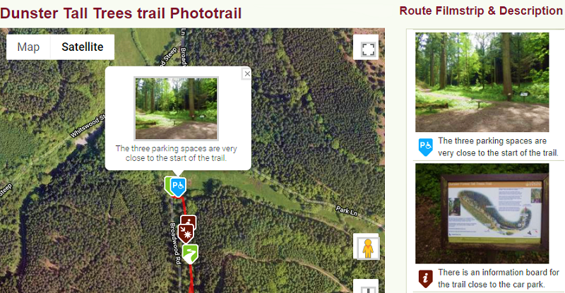 Phototrail, accessible, access, accessibility, tall trees, walks, dunster beach, phototrails, days out, walking